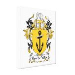 Escudo de la familia de Van de Velde Impresiones En Lona Estiradas