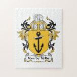 Escudo de la familia de Van de Velde Rompecabeza Con Fotos