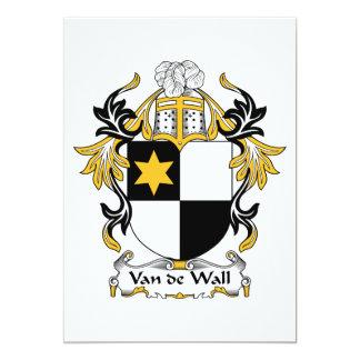 """Escudo de la familia de Van de Wall Invitación 5"""" X 7"""""""