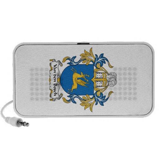 Escudo de la familia de Van den Bosch Laptop Altavoces