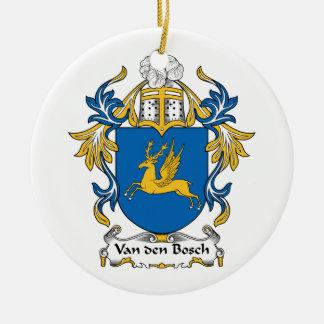 Escudo de la familia de Van den Bosch Adorno Redondo De Cerámica