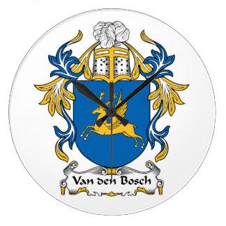 Escudo de la familia de Van den Bosch Relojes De Pared