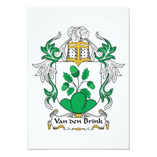 """Escudo de la familia de Van Den Brink Invitación 5"""" X 7"""""""