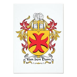 """Escudo de la familia de Van den Dam Invitación 5"""" X 7"""""""