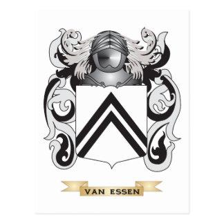 Escudo de la familia de Van Essen escudo de armas Tarjetas Postales