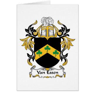 Escudo de la familia de Van Essen Felicitaciones