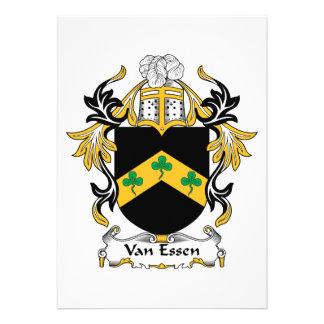 Escudo de la familia de Van Essen Comunicado Personalizado
