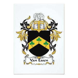 """Escudo de la familia de Van Essen Invitación 5"""" X 7"""""""