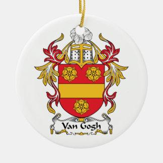 Escudo de la familia de Van Gogh Adorno Navideño Redondo De Cerámica