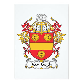 """Escudo de la familia de Van Gogh Invitación 5"""" X 7"""""""