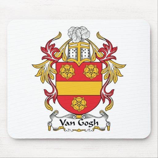Escudo de la familia de Van Gogh Alfombrilla De Ratón