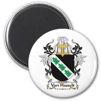 Escudo de la familia de Van Hasselt Imán Redondo 5 Cm