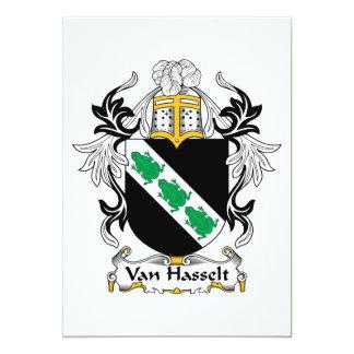 """Escudo de la familia de Van Hasselt Invitación 5"""" X 7"""""""