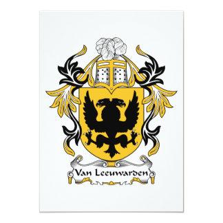 """Escudo de la familia de Van Leeuwarden Invitación 5"""" X 7"""""""