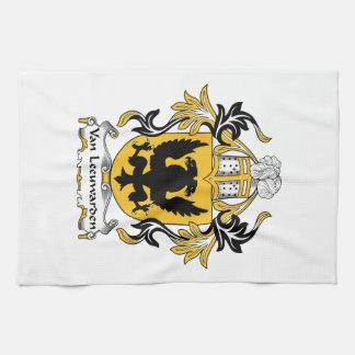 Escudo de la familia de Van Leeuwarden Toalla De Mano