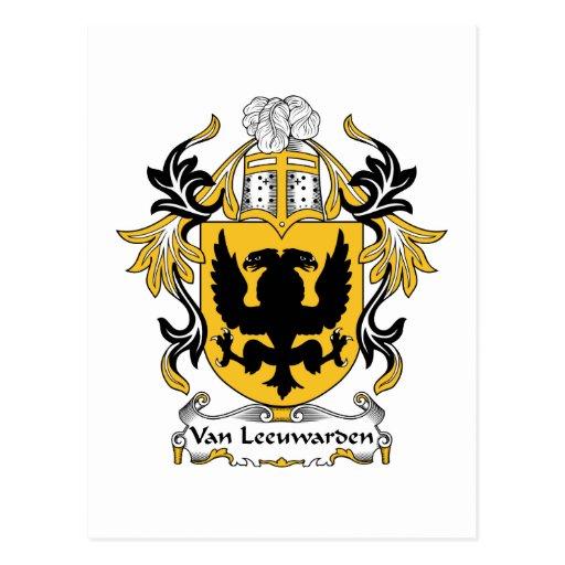 Escudo de la familia de Van Leeuwarden Tarjetas Postales