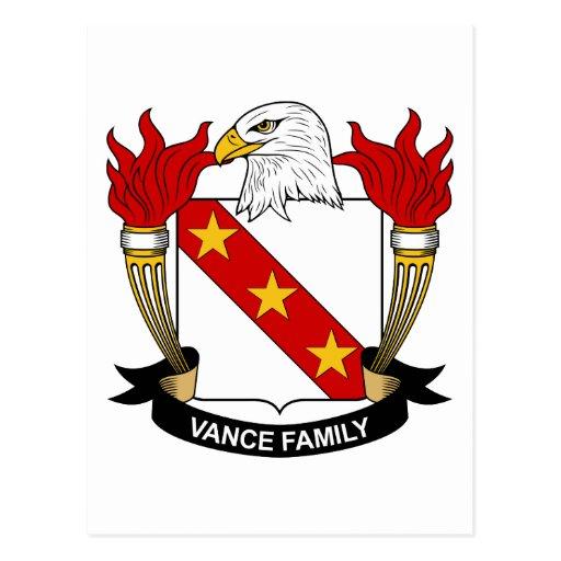 Escudo de la familia de Vance Tarjetas Postales