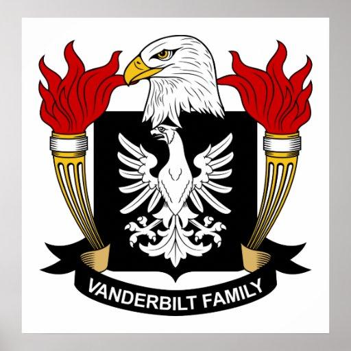 Escudo de la familia de Vanderbilt Póster