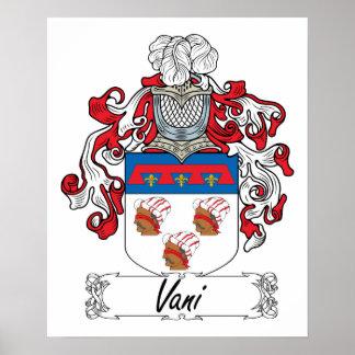 Escudo de la familia de Vani Posters