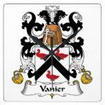 Escudo de la familia de Vanier Relojes
