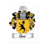 Escudo de la familia de Vanni Tarjeta Postal