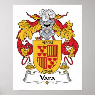 Escudo de la familia de Vara Impresiones