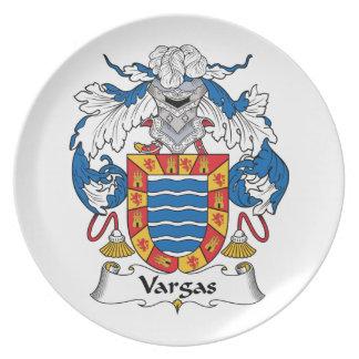 Escudo de la familia de Vargas Plato De Comida