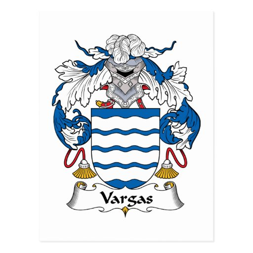 Escudo de la familia de Vargas Tarjetas Postales