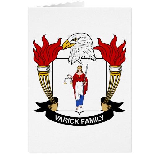 Escudo de la familia de Varick Tarjeta De Felicitación