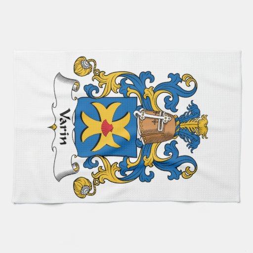 Escudo de la familia de Varin Toallas De Cocina