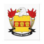 Escudo de la familia de Varnum Impresiones En Lienzo Estiradas
