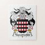 Escudo de la familia de Vasconcelos Puzzles