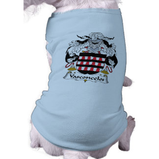 Escudo de la familia de Vasconcelos Playera Sin Mangas Para Perro