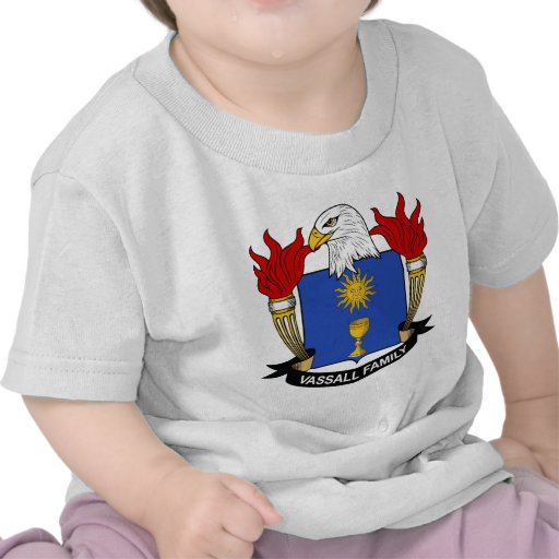 Escudo de la familia de Vassall Camisetas