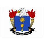 Escudo de la familia de Vassall Postal