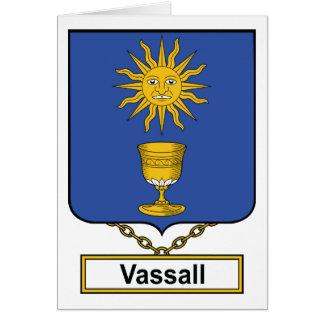 Escudo de la familia de Vassall Tarjeta De Felicitación