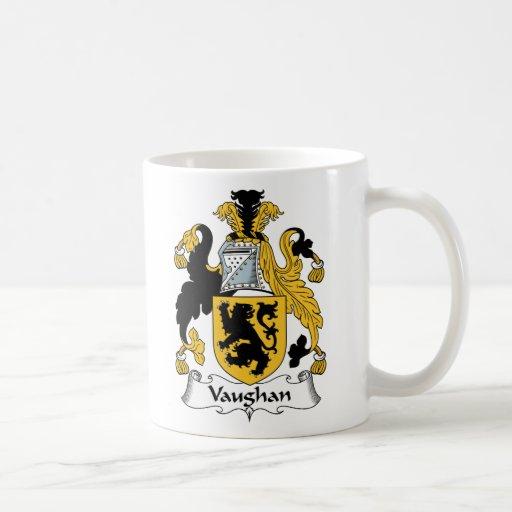 Escudo de la familia de Vaughan Tazas De Café