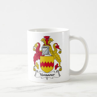 Escudo de la familia de Vavasour Taza De Café