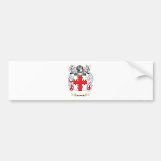 Escudo de la familia de Vavra (escudo de armas) Etiqueta De Parachoque