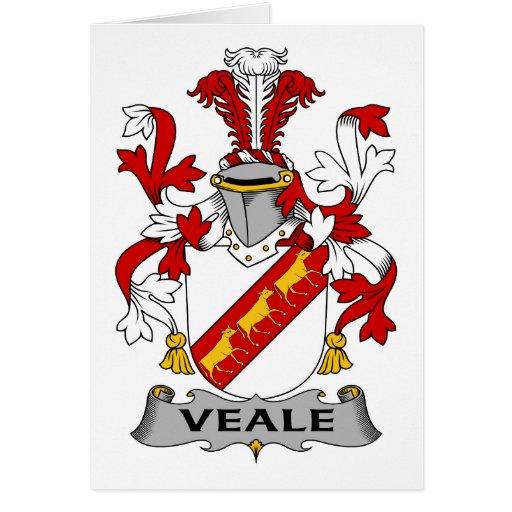 Escudo de la familia de Veale Tarjeta