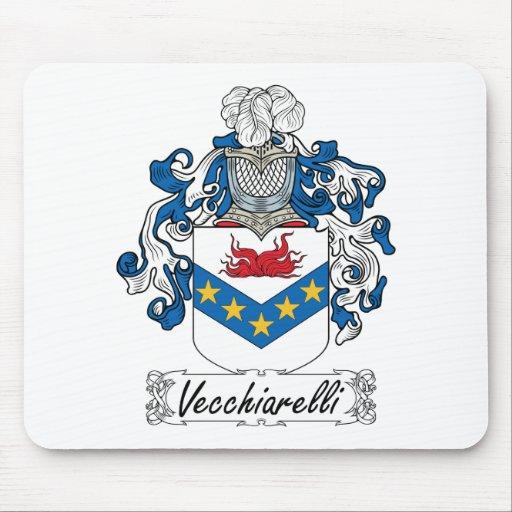 Escudo de la familia de Vecchiarelli Alfombrillas De Ratón