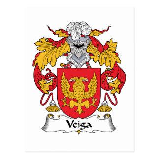 Escudo de la familia de Veiga Tarjeta Postal