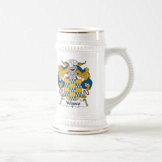 Escudo de la familia de Velasco Tazas De Café