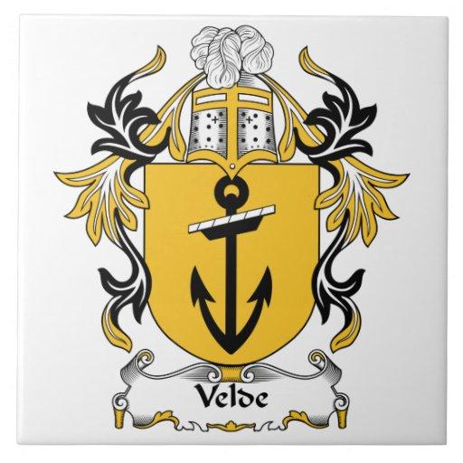 Escudo de la familia de Velde Tejas