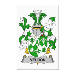 Escudo de la familia de Veldon Lienzo Envuelto Para Galerias