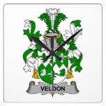 Escudo de la familia de Veldon Relojes