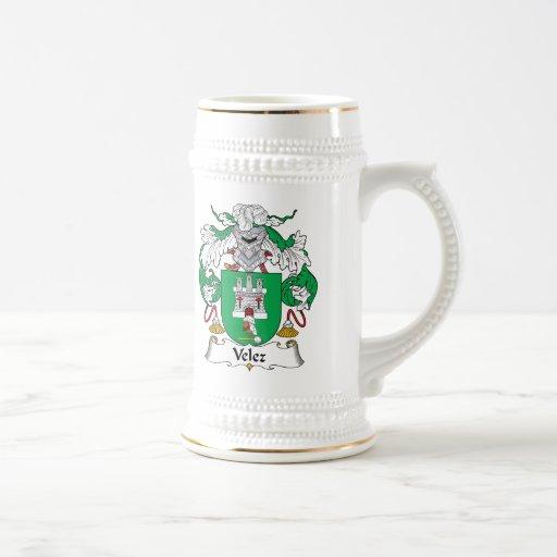 Escudo de la familia de Velez Taza De Café