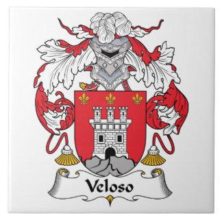 Escudo de la familia de Veloso Azulejo Cuadrado Grande