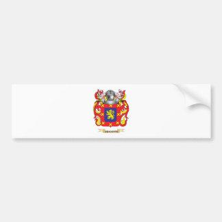Escudo de la familia de Venditti (escudo de armas) Pegatina Para Auto