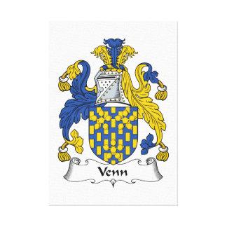 Escudo de la familia de Venn Impresion En Lona
